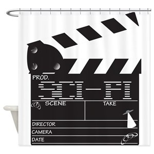 Clapper Board Shower Curtains