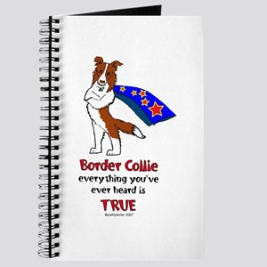 Super Border Collie-red Journal