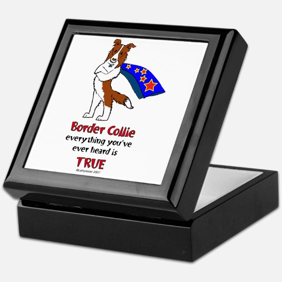 Super Border Collie-red Keepsake Box