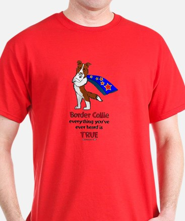 Super Border Collie-red T-Shirt
