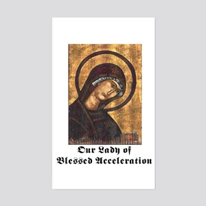 Our Lady Rectangle Sticker