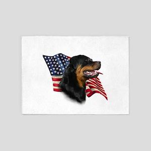 Rottweiler Flag 5'x7'Area Rug