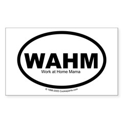 WAHM Rectangle Decal