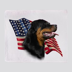 Rottweiler Flag Throw Blanket