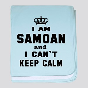 I am Samoan and I can't keep calm baby blanket