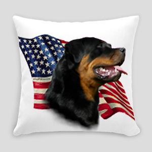 Rottweiler Flag Everyday Pillow