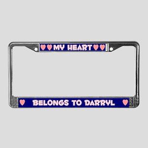 My Heart: Darryl (#008) License Plate Frame