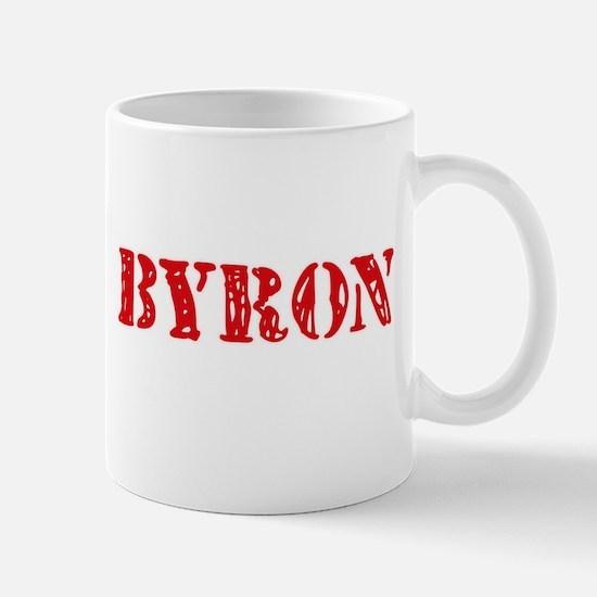 Byron Rustic Stencil Design Mugs