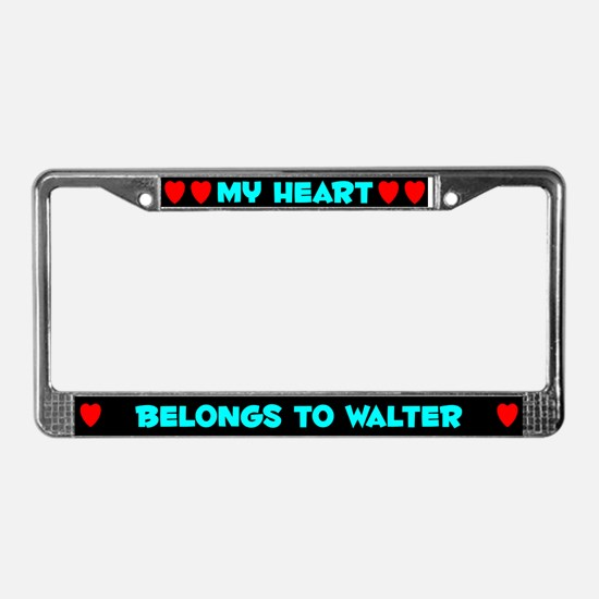 My Heart: Walter (#003) License Plate Frame