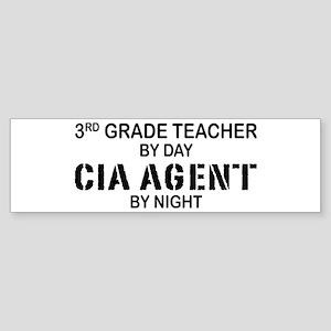 3rd Grade Teacher CIA Bumper Sticker