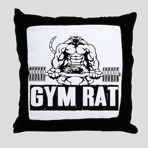 Gym Rat Throw Pillow