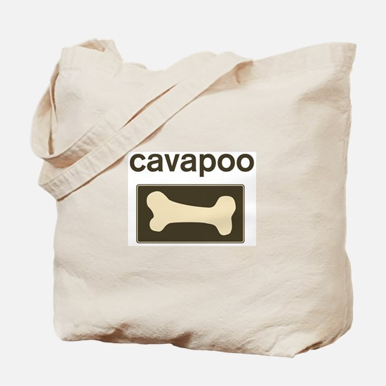 Cavapoo Dog Bone Tote Bag