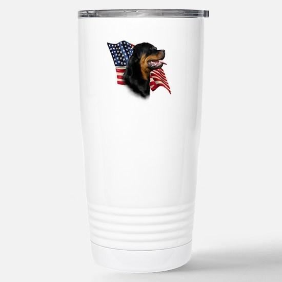 Rottweiler Flag Stainless Steel Travel Mug
