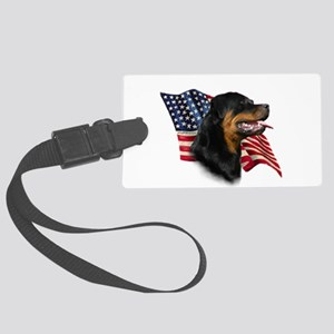 Rottweiler Flag Large Luggage Tag