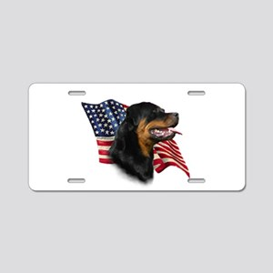 Rottweiler Flag Aluminum License Plate