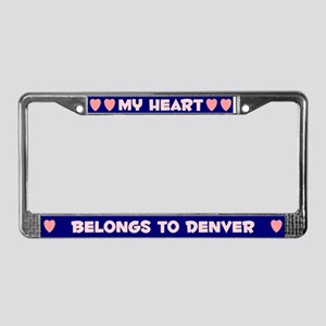 My Heart: Denver (#008) License Plate Frame