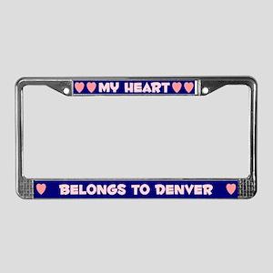 My Heart: Denver (#008) License Plate Frame