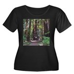 Redwood Trail Women's Plus Size Scoop Neck Dark T-