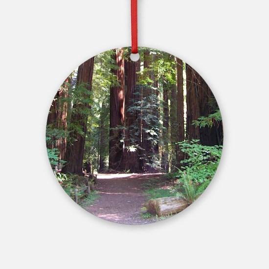 Redwood Trail Ornament (Round)
