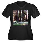 The Redwood Highway Women's Plus Size V-Neck Dark