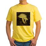 White Mushrooms Yellow T-Shirt