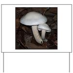 White Mushrooms Yard Sign