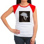 White Mushrooms Women's Cap Sleeve T-Shirt