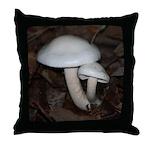 White Mushrooms Throw Pillow