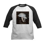 White Mushrooms Kids Baseball Jersey