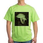 White Mushrooms Green T-Shirt