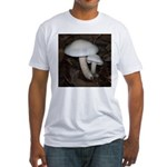 White Mushrooms Fitted T-Shirt