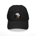 White Mushrooms Black Cap