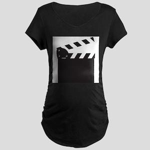Clapper Board Blank Maternity T-Shirt