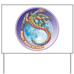 Magic Moon Dragon Yard Sign