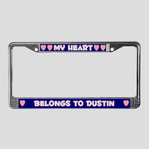 My Heart: Dustin (#008) License Plate Frame