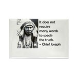 Truth Quote Rectangle Magnet (100 pack)