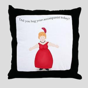 Strawberry Blond Hug Accompanist Throw Pillow