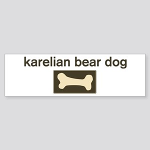 Karelian Bear Dog Dog Bone Bumper Sticker