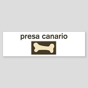 Presa Canario Dog Bone Bumper Sticker