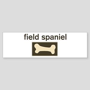 Field Spaniel Dog Bone Bumper Sticker