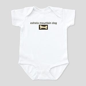 Estrela Mountain Dog Dog Bone Infant Bodysuit