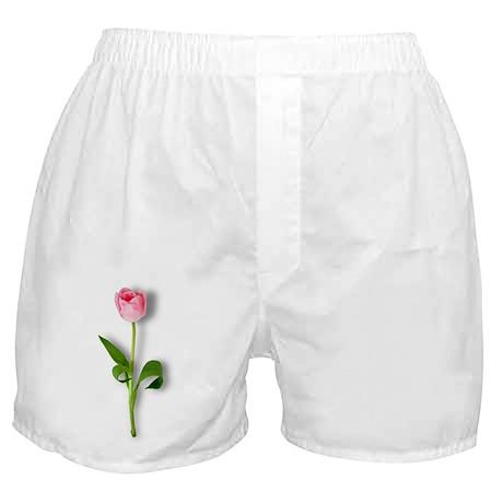 Single Pink Tulip Boxer Shorts