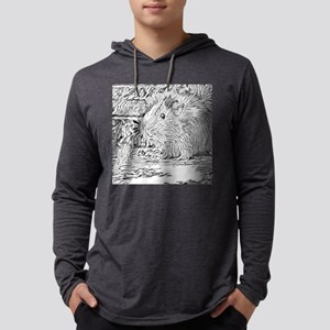 Inky Black and White -Guinea P Long Sleeve T-Shirt