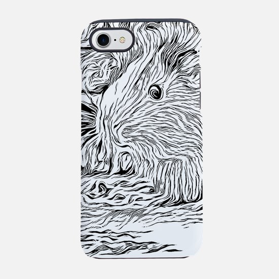 Inky Black and White -Guinea iPhone 8/7 Tough Case