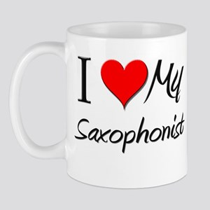 I Heart My Saxophonist Mug