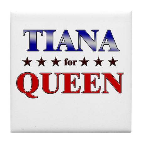 TIANA for queen Tile Coaster