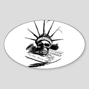 Death Warrant Oval Sticker