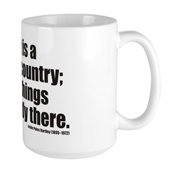 Past is A Foreign Country Large Mug