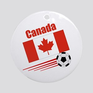 Canada Soccer Team Ornament (Round)