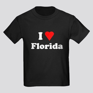 I Love Florida Kids Dark T-Shirt